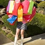 donna e shopping ... fatica eh !?